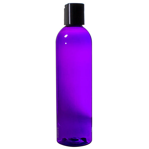 Purple Plastic Slim Cosmo Bottle with Black Disc Cap - 8 oz / 250 ml