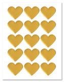 Shiny Gold Foil Heart Shaped Labels, 2.2 x 1.8 Inches, for LASER PRINTERS with Downloadable Template and Printing Instructions, 5 Sheets, 75 Labels (HTG3)