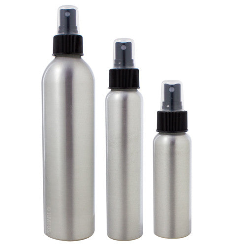 Aluminum Empty Refillable Fine Mist Spray Bottle Set