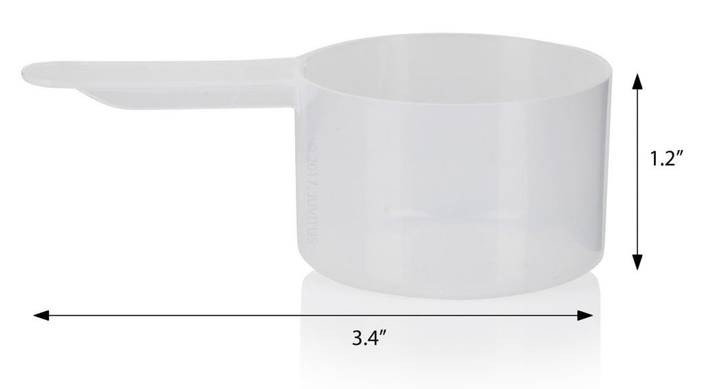 1.45 oz / 43 cc Clear Natural Plastic Scoop