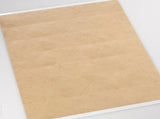 "Textured Brown Kraft 2.83"" x 1.5"" Rectangle Labels for Laser and Inkjet Printers with Downloadable Template and Printing Instructions,  5 Sheets, 105 Labels (RB28)"