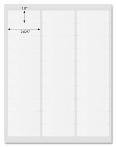 "Premium White Matte Address Labels, 2.625"" x 1"" Rounded Corner, For Inject and Laser Printers with Downloadable Template and Printing Instructions, 20 Sheets, 600 Labels (ML26)"