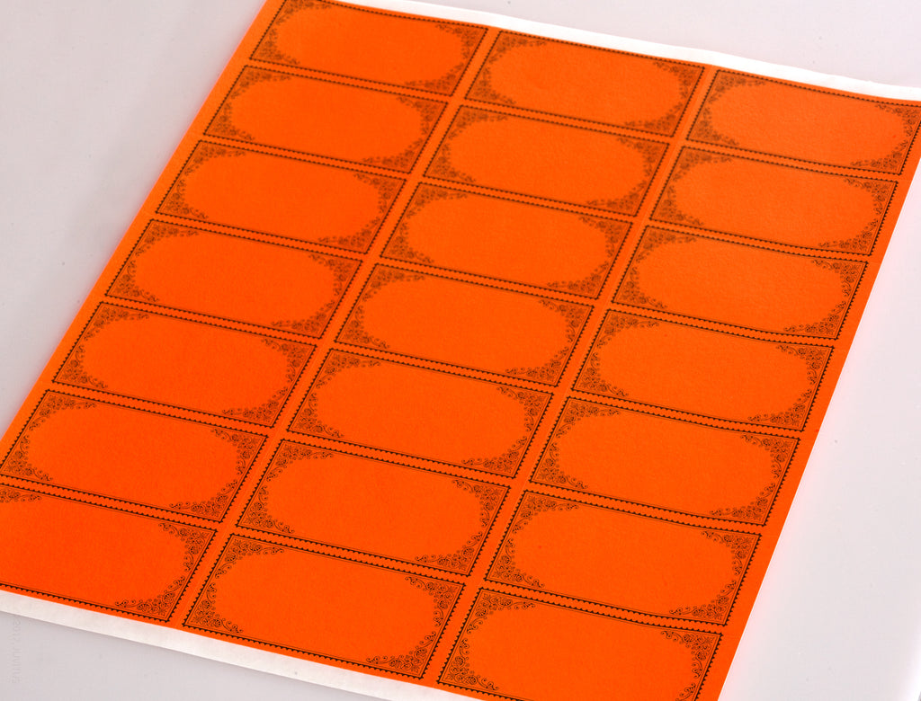 "Fluorescent Red 2.83"" x 1.5"" Rectangle Labels for Laser and Inkjet Printers with Downloadable Template and Printing Instructions,  5 Sheets, 105 Labels (FR28)"