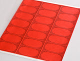 "Red 2.83"" x 1.5"" Rectangle Labels for Laser and Inkjet Printers with Downloadable Template and Printing Instructions,  5 Sheets, 105 Labels (TR28)"