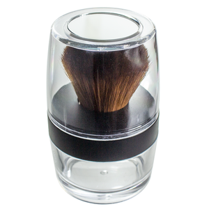 Kabuki Brush Sifter Empty Refillable Travel Jar for Mineral Makeup, Powders
