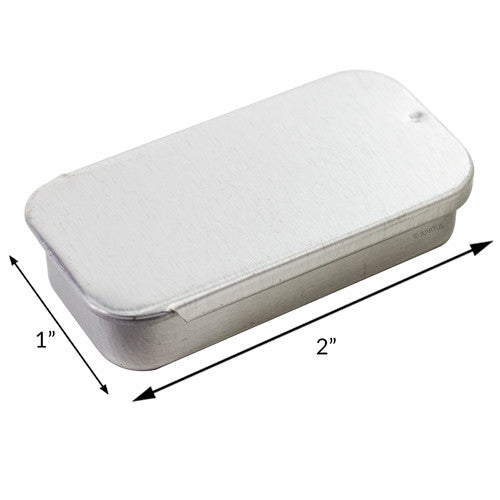 Metal Slide Top Tin Containers - Small (5 Pack)
