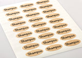 Textured Brown Kraft 2 x 1 Inch Oval Labels with Downloadable Template and Printing Instructions, 5 Sheets, 135 Labels (OB21)
