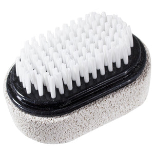 Two Sided Foot Scrubber: Pumice Stone Smoother & Bristle Brush Foot Exfoliator