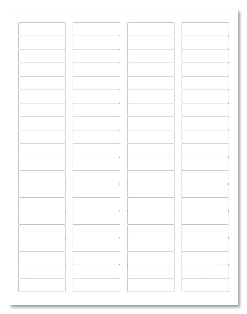 "Clear Gloss Return Address Labels, 1.75"" x 0.5"" Rectangle Shape, for Laser Printers with Template and Printing Instructions, 5 Sheets, 400 Labels (R175)"
