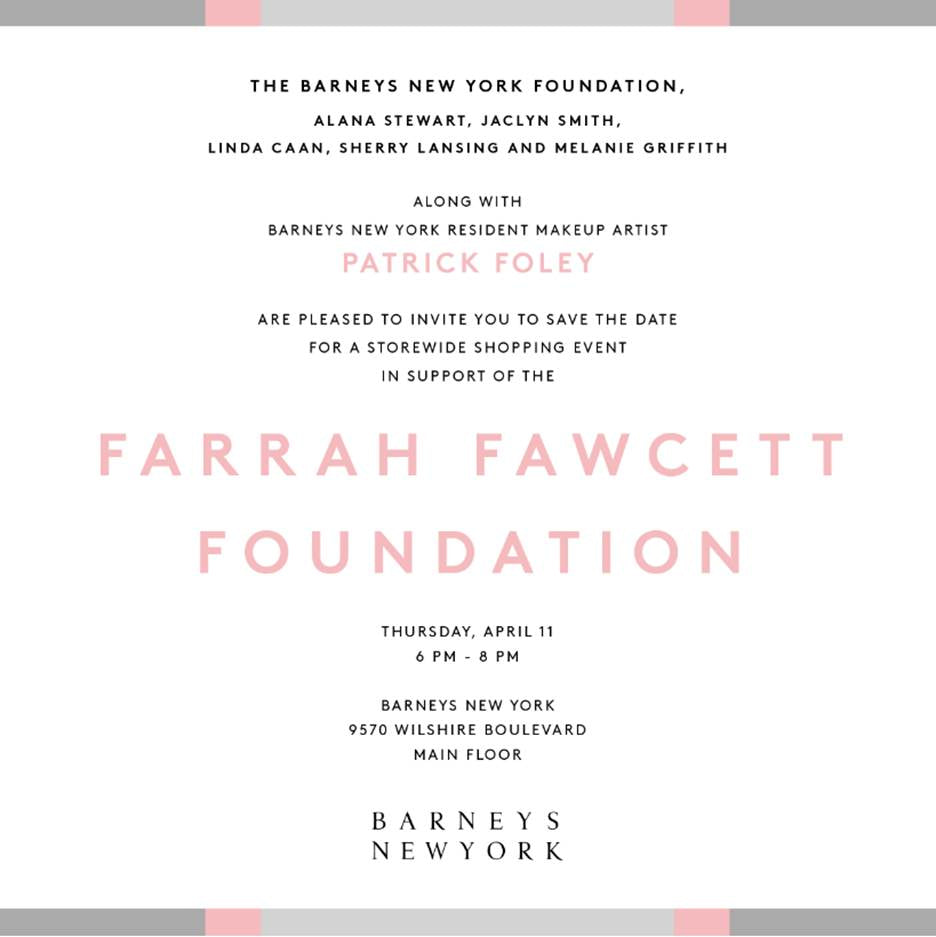 This Thursday shop for a good cause at Barneys New York and get 10% off all the cosmetics!