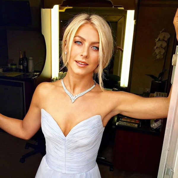 Julianne Hough on her wedding day, wearing Nude Envie - Courtesy of US Weekly Magazine