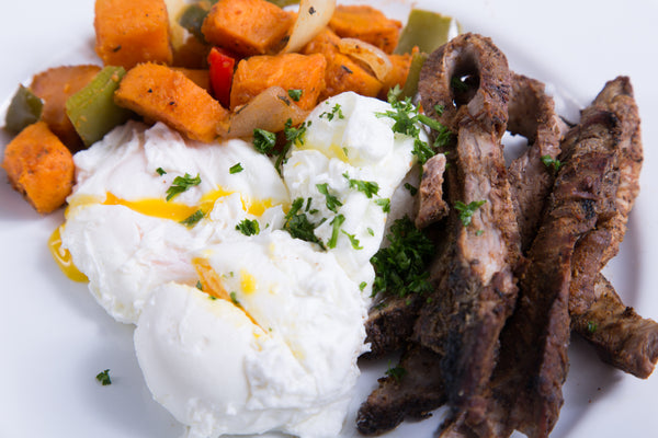 Steak and Poached Eggs