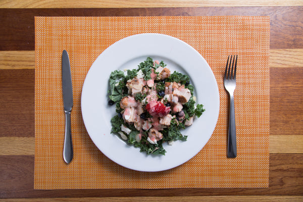 Berry Chicken Kale Salad