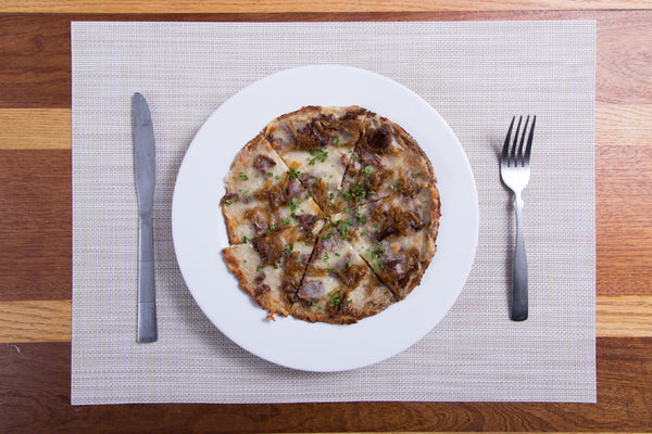 Caramelized Onion, Truffle & Short Rib Pizza