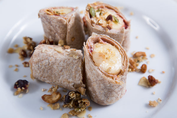 Kids PB Strawberry Banana Wrap