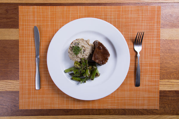 Short Ribs with Mushroom Risotto