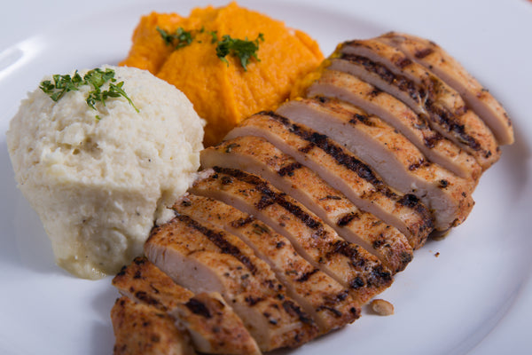 Roasted Chicken with Carrot & Parsnip Puree