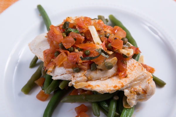 Sautéed Chicken with Tomatoes & Capers