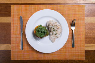 Grilled Chicken with Red Rice, Avocado & Arugula Salad