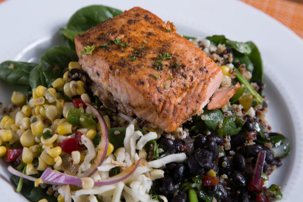 Southwest Salmon Quinoa Bowl