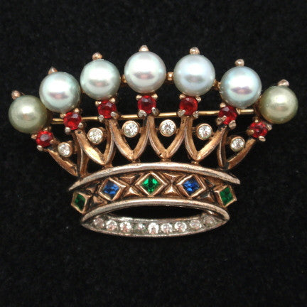 Wear a Crown Brooch and You're Queen for a Day