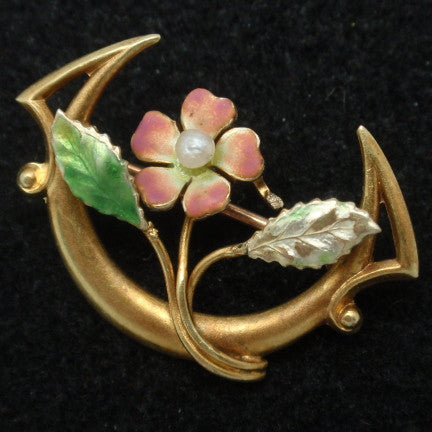 Antique Gold Pin