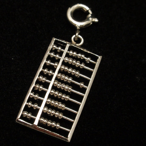 Silver Abacus Charm