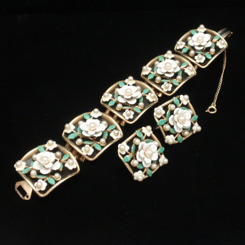 Alice Floral Bracelet and Earrings