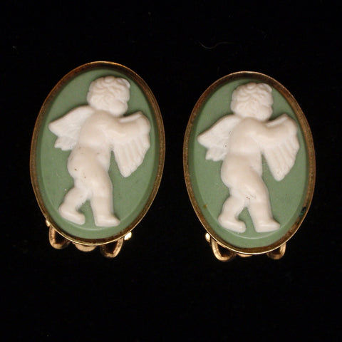 Vintage Jasperware Earrings