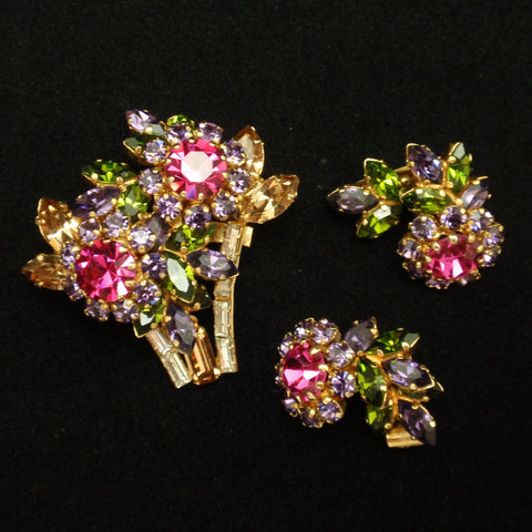 Austrian Pin and Earrings