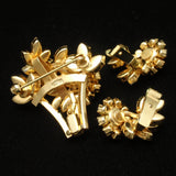 Flower Brooch Pin & Earrings Set Austria