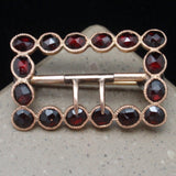 Gold and Garnet Buckle Pin