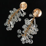 "Crystal Chandelier Drop Earrings Barclay Vintage 4 3/8"" Long"