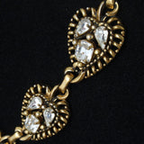 Barclay Set Necklace Earrings Vintage Rhinestones Paisley Leaf Links