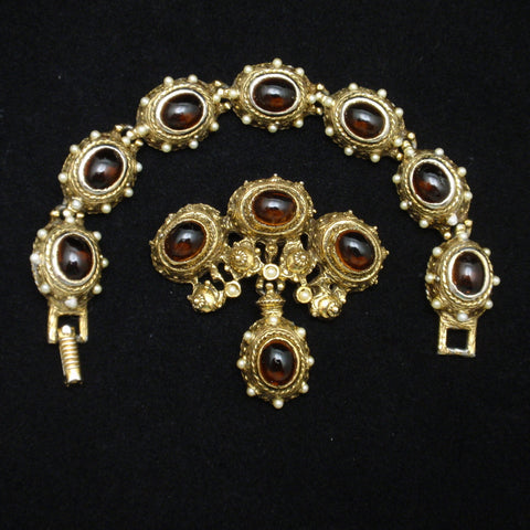 Benedikt NY Bracelet and Brooch