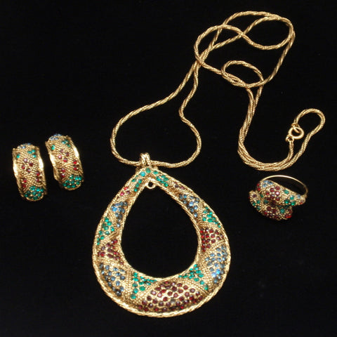 Bergere Necklace Earrings Ring Set
