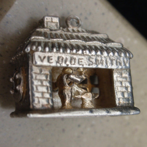 Silver Mechanical Blacksmith Shop Charm