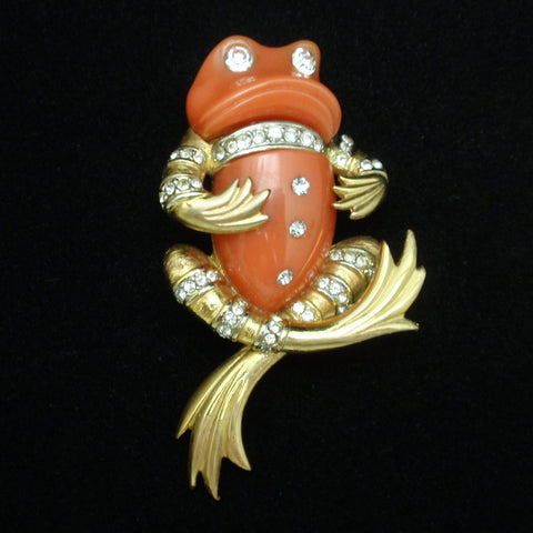 Boucher Frog Pin