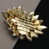 Tropical Colors Rhinestone Pin Vintage Brooch Unsigned