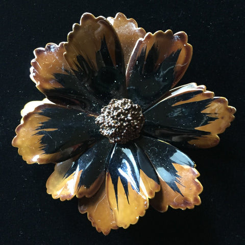 1960's Flower Power Brooch Pin