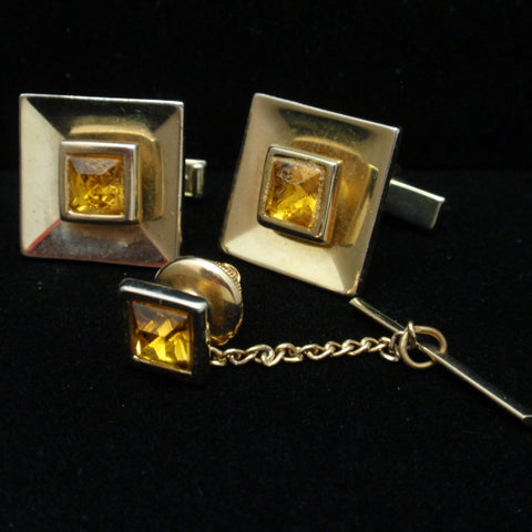 Cuff Links and Tie Tack Set