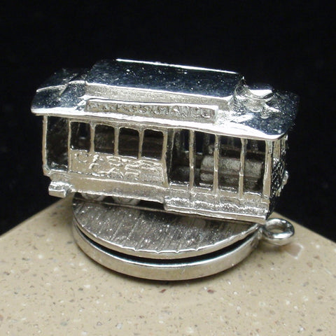 Silver San Francisco Trolley Charm