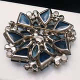 Juliana D&E Brooch Pin Large Deep Blue Stones Vintage