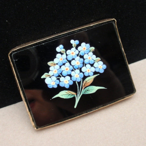 Hand-Painted Victorian Brooch