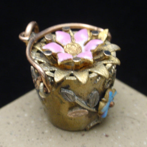 Flower Basket Charm