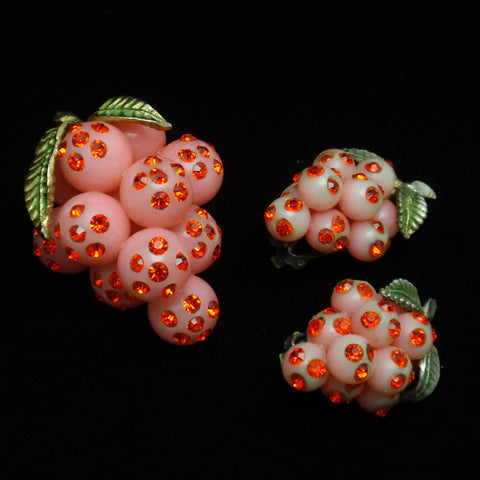 Forbidden Fruit Pin and Earrings Set