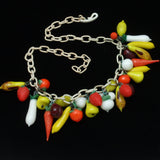 Fruit Necklace Vintage Glass and Celluloid Colorful