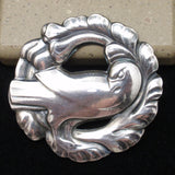 Iconic Georg Jensen Bird Pin Sterling Silver Denmark