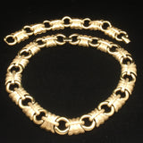 Givenchy Gold Tone Necklace Bracelet Set Vintage Smooth and Satin Finishes