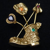 Goldette Stick Pins Brooch